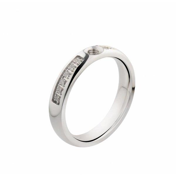 Melano MelanO Twisted ring CZ Crystal Stainless Steel