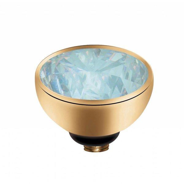 Melano MelanO Twisted Gold color setting Zirconia Moonstone