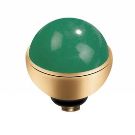 Melano MelanO Twisted Goudkleur zetting Gem Stone Jade