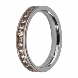 Melano MelanO Side Ring Stainless Steel Crystal