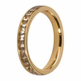 Melano MelanO Side Ring color Gold Crystal