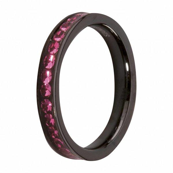 Melano MelanO Side Ring Black Plated Rose