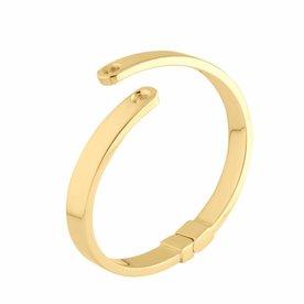 Melano Melano Vivid armband Violetta Goudkleur