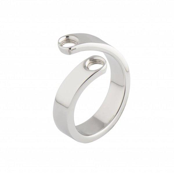 Melano Melano Vivid ring Violet zilver