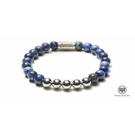Rebel and Rose Rebel & Rose Midnight Blue Silver herenarmband RR-80004-S