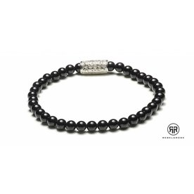 Rebel and Rose Rebel & Rose Black Panther - Silver damesarmband RR-40006-S