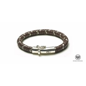 Rebel and Rose Rebel & Rose Braided Round Metal - Metal Earth herenarmband RR-L0003-S