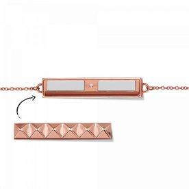 Mi Moneda Take What You Need armband Rosegoud