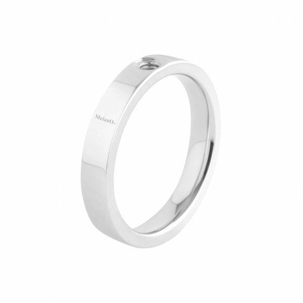 Melano Melano Twisted Ring Tatum Silber