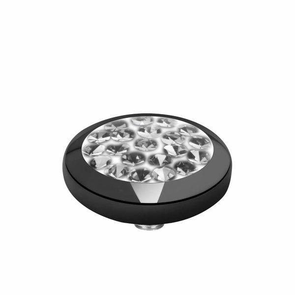 Melano Melano Vivid setting Multi CZ Black crystal