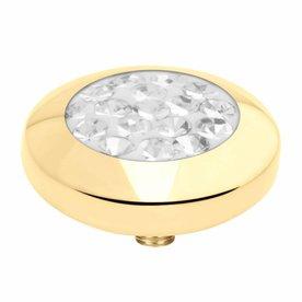 Melano Melano Vivid setting Multi CZ Gold color