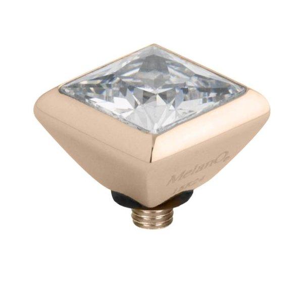 Melano Melano Twisted zirconia setting Square Crystal