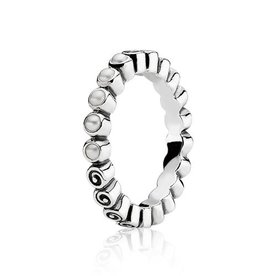 Pandora Pandora ring nr. 190836P zilver met steen Ringmaat: 54 (17)