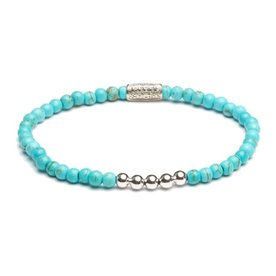 Rebel and Rose Rebel & Rose Turquoise delight - Silver damesarmband RR-40026-S