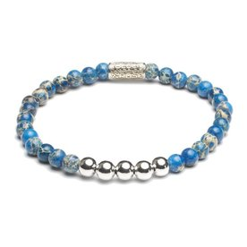 Rebel and Rose Rebel & Rose Universe blue- Silver damesarmband RR-40029-S