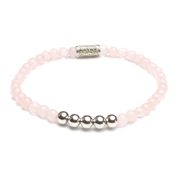 Rebel and Rose Rebel & Rose Pink Rose- Silver damesarmband RR-40030-S