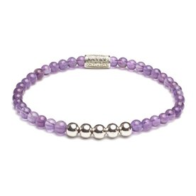 Rebel and Rose Rebel & Rose Purple rain - Silver damesarmband RR-40031-S