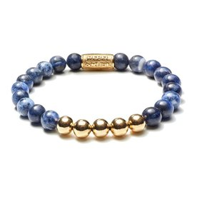 Rebel and Rose Rebel & Rose Midnight Blue Yellow Gold herenarmband RR-80004-G