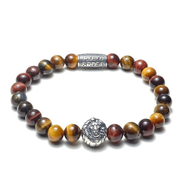 Rebel and Rose Rebel & Rose Who's afraid of the lion Silver herenarmband RR-8L028-S