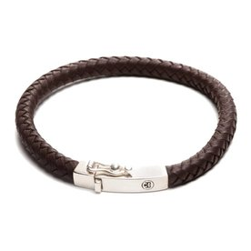 Rebel and Rose Rebel & Rose Small braided square brown herenarmband RR-L0010-S-21