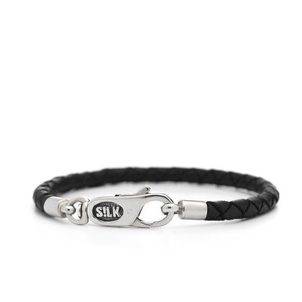 Silk S!lk armband leather brown black 830