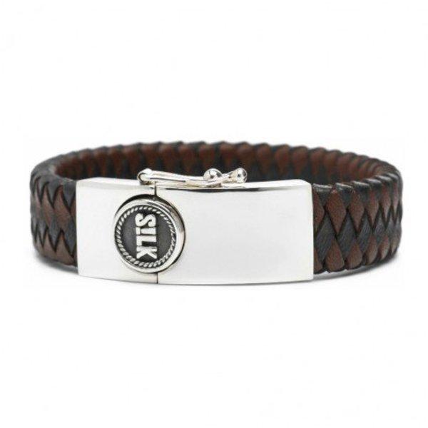 Silk S!lk armband leather black/brown 811