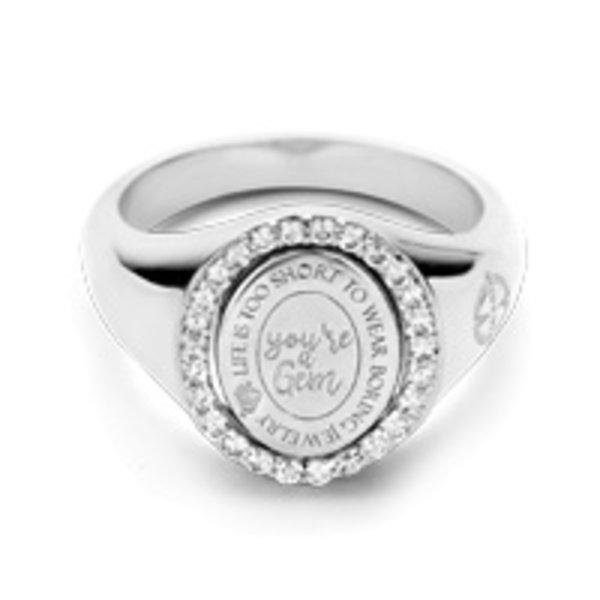 Mi Moneda Mi-Moneda zilveren ring Brooklyn MMV-RIN-BRO-01-52