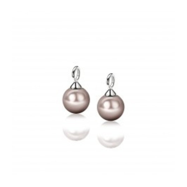 Zinzi Zinzi silver creole pendants pearl 266c