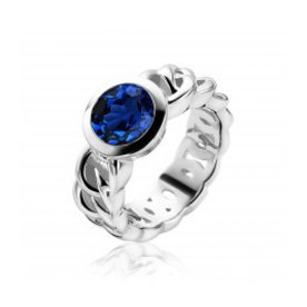 Zinzi Zinzi silver ring with blue zirconia zir1101B