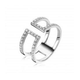Zinzi Zinzi silver ring with zirconia zir1478