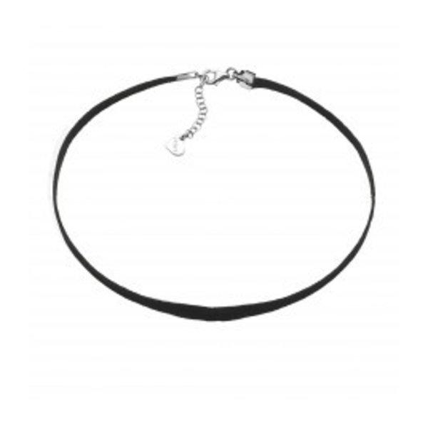 Zinzi Zinzi schwarzes Leder Halsband 5 mm hokok1502