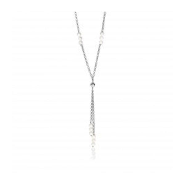 Zinzi Zinzi Silber Y-Halskette mit Perlen zic1428