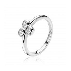 Zinzi Zinzi silver ring with zirconia zir1442