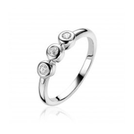 Zinzi Zinzi silver ring with zirconia zir1443