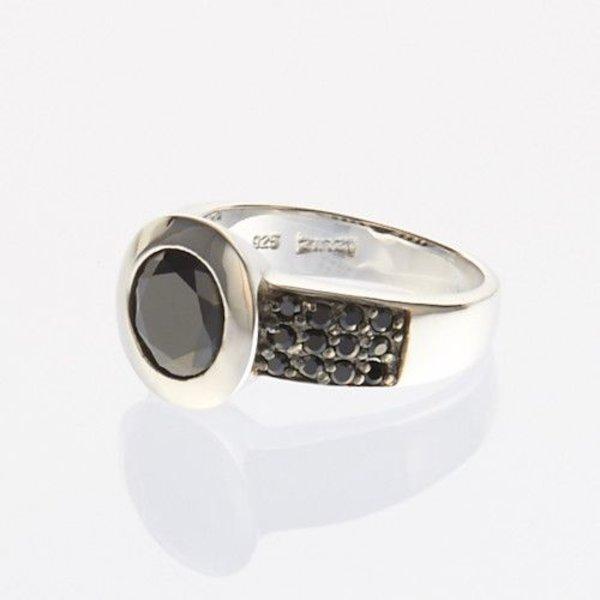 Zinzi Zinzi Silberring schwarz ZIR841Z Größe 54