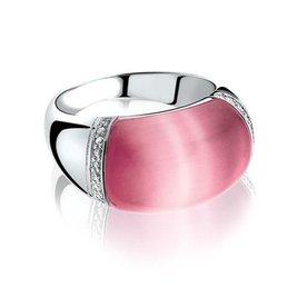Zinzi Zinzi zilveren ring roze ZIR794 maat 56
