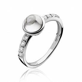 Zinzi Zinzi silver ring white ZIR927