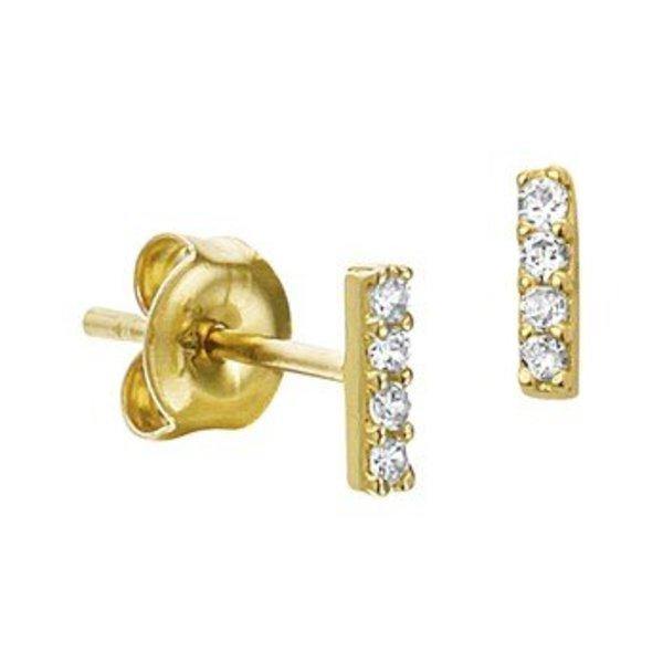 Gold earrings 40.19060