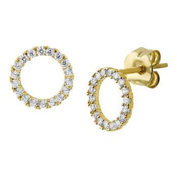 Gold earrings 40.19068