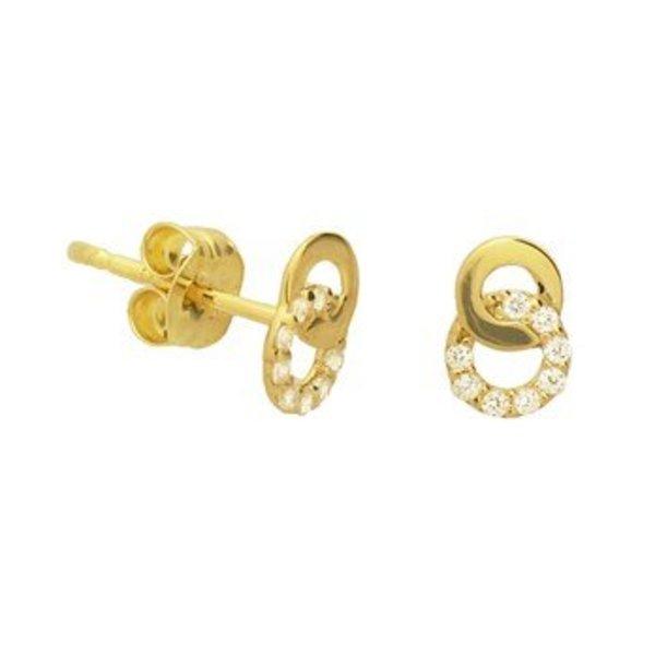 Gold earrings 40.19080
