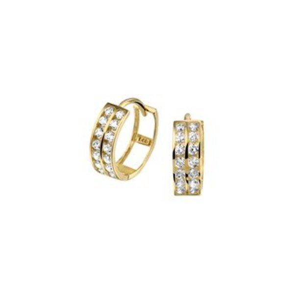 Gold earrings 40.18303