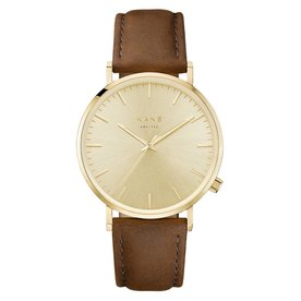 Kane watches Kane herenhorloge geel rush vintage brown GG050