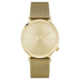 Kane watches Kane herenhorloge geel rush gold mesh GG900