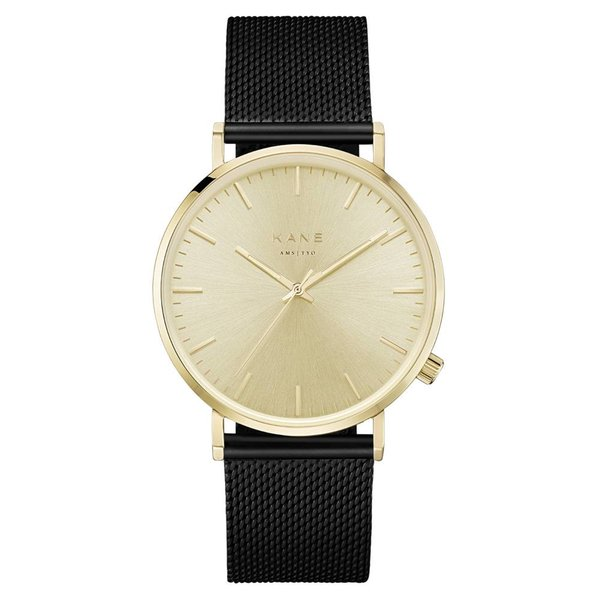Kane watches Kane herenhorloge geel rush black mesh GG100