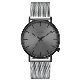 Kane watches Kane men's watch black out silver mesh BO500