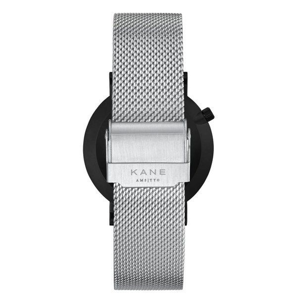 Kane watches Kane herenhorloge black out silver mesh BO500