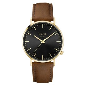 Kane watches Kane herenhorloge gold club vintage brown GB050