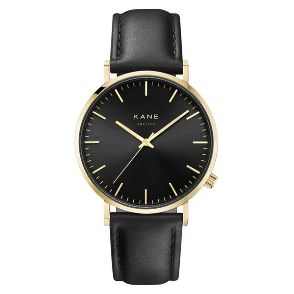 Kane watches Kane herenhorloge gold club classic black GB001