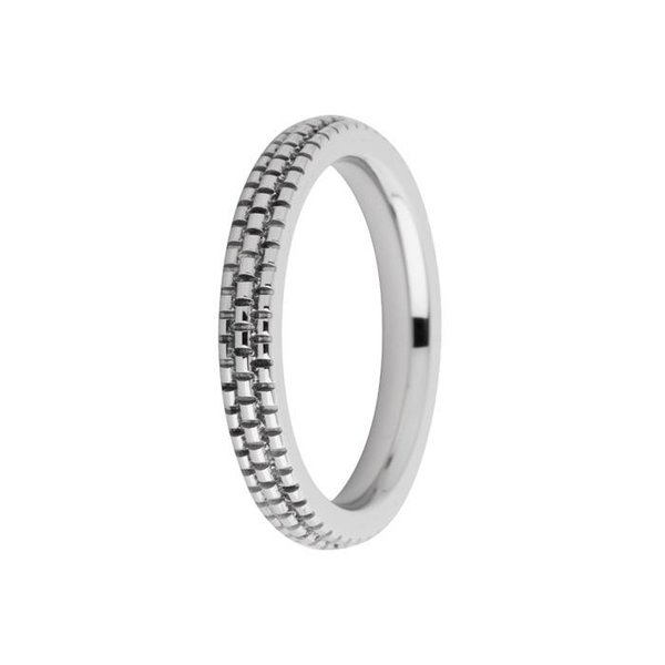 Melano Melano ring sarah engraved silver FR10SS030