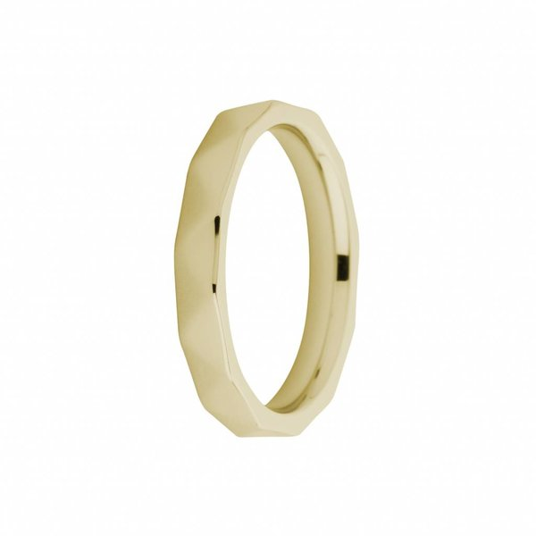 Melano Melano ring sarah faceted gold FR12GD030